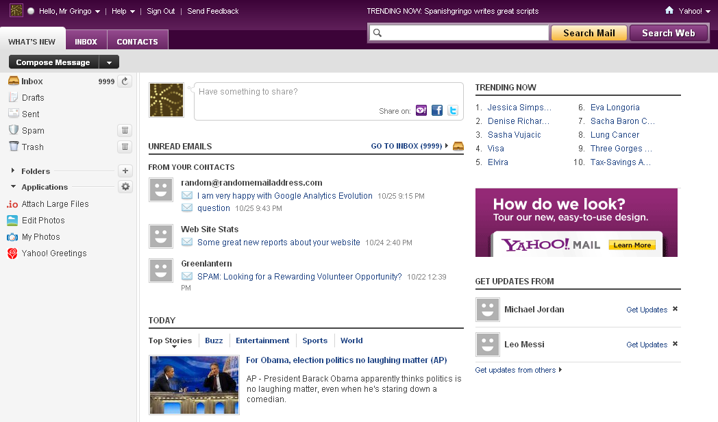 how to delete ads in yahoo mail