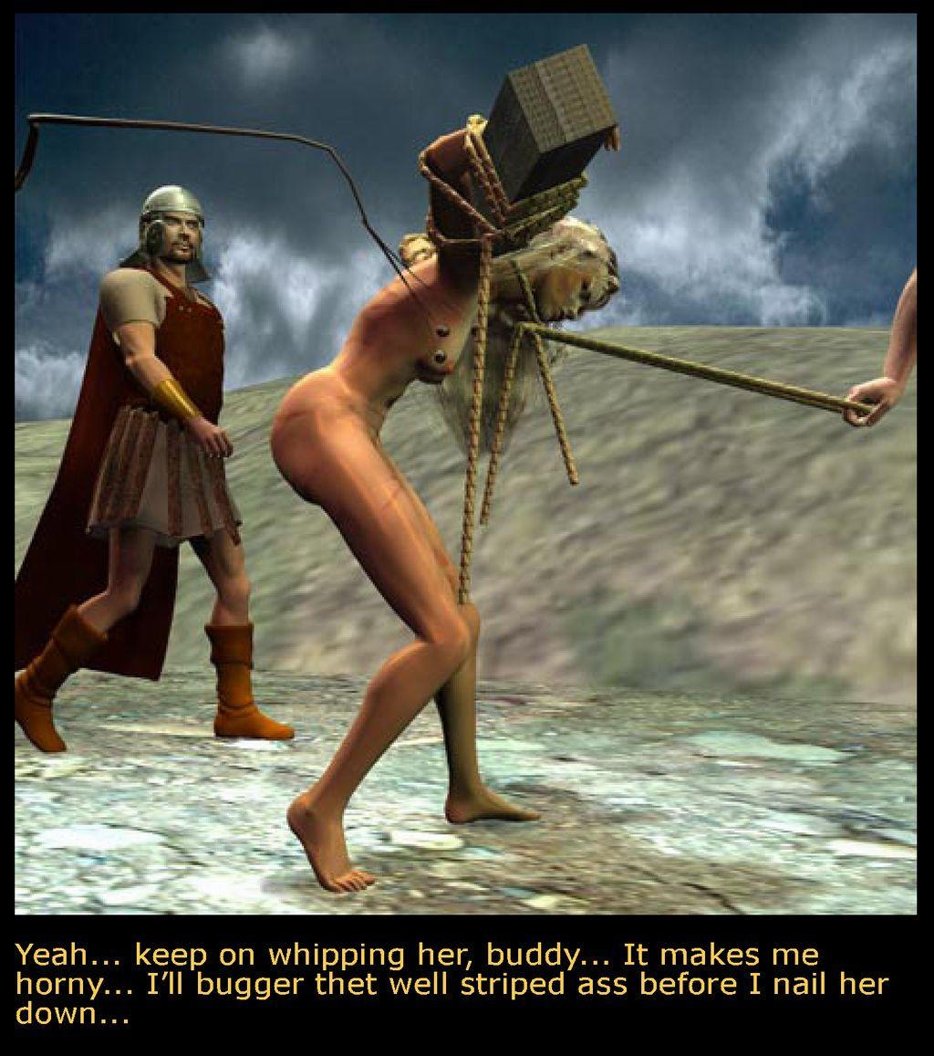 Naked crucifixition bdsm