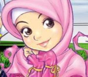 Muslim Girls Cartoon