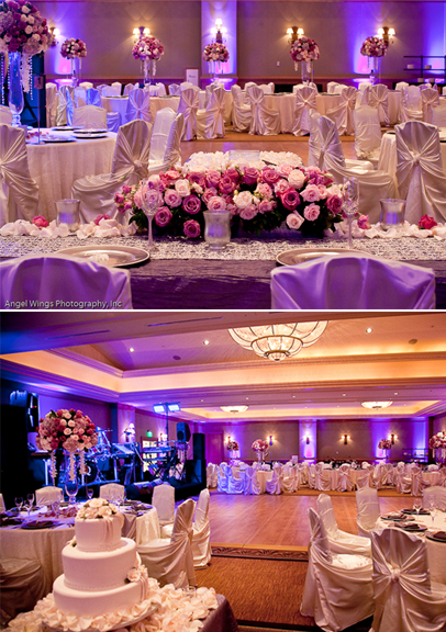 Venue Hyatt Regency Resort Labels Ivory Pink and Lavender Wedding