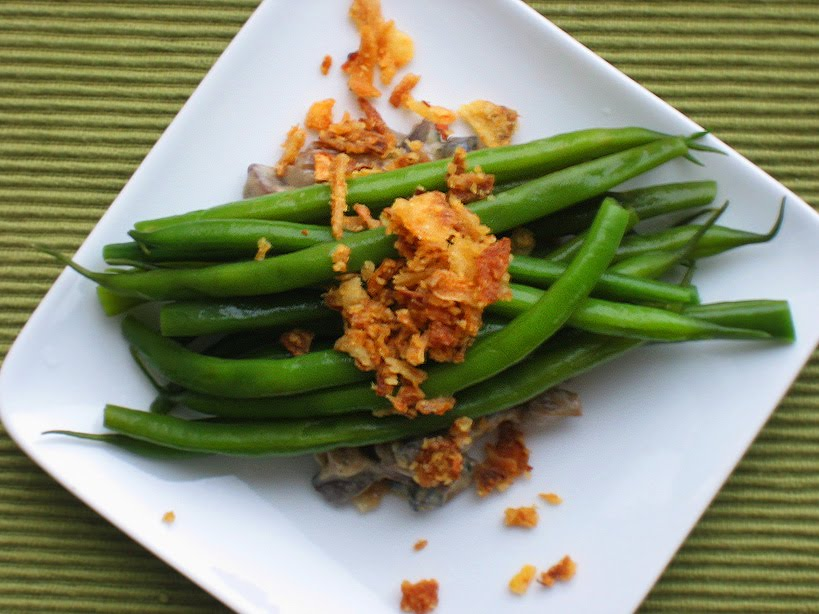 Deconstructed Green Bean Casserole from
