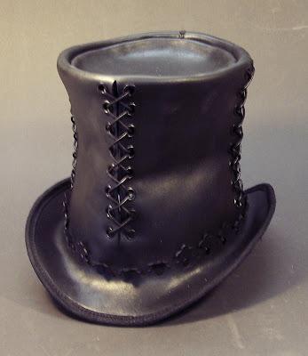 [Multi Styles] Haut de forme en cuir 0727+top+hat+angle