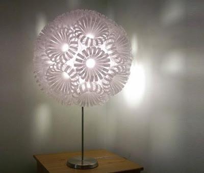 Cómo hacer unas bonitas lámparas con materiales reciclados ...
