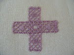 Knypplade kors