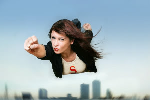 Superwoman in business saves the day!