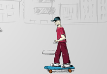 Skateboard Man