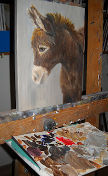 A view of my wife's easel right now.