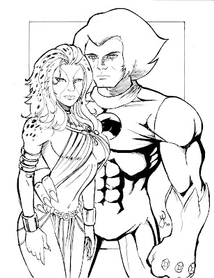 Thundercats Coloring Pages on Lion O And Cheetara From Thundercats