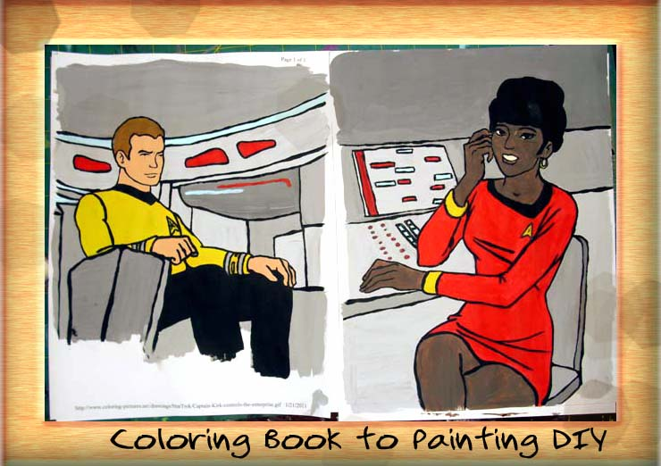 Coloring Book Pages To Awesome Paintings