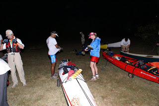 prepping boat on race morn