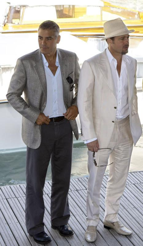 brand pitt georg cloney homens sexy