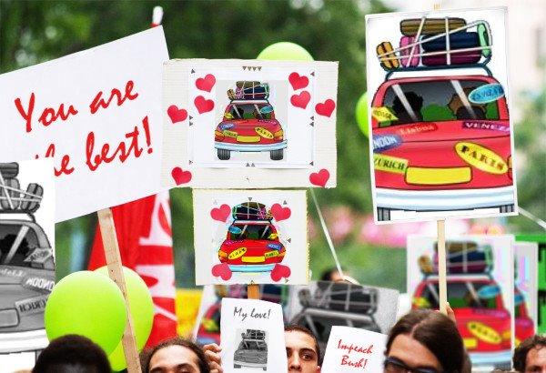 mundo afora em todas as partes do mundo como protesto
