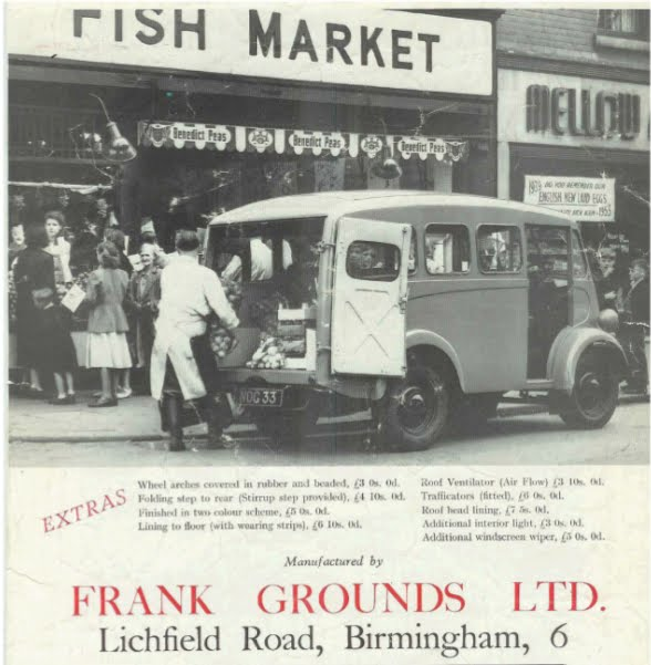 "A 1953 advert for a ""Frank Grounds"" J type."