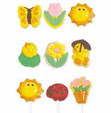 Springtime Treats Design Lollipop Choc