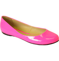 dressed and pressed - flat neon pump