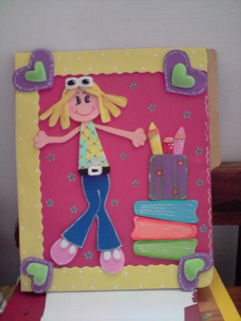 Mis Creaciones YM: mi carpeta adornada