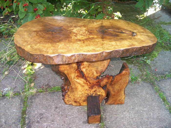 Whych Elm, old Oak and Ash coffee table to match the chair