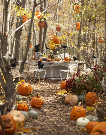 from country living how cute is the entrance to this halloween party