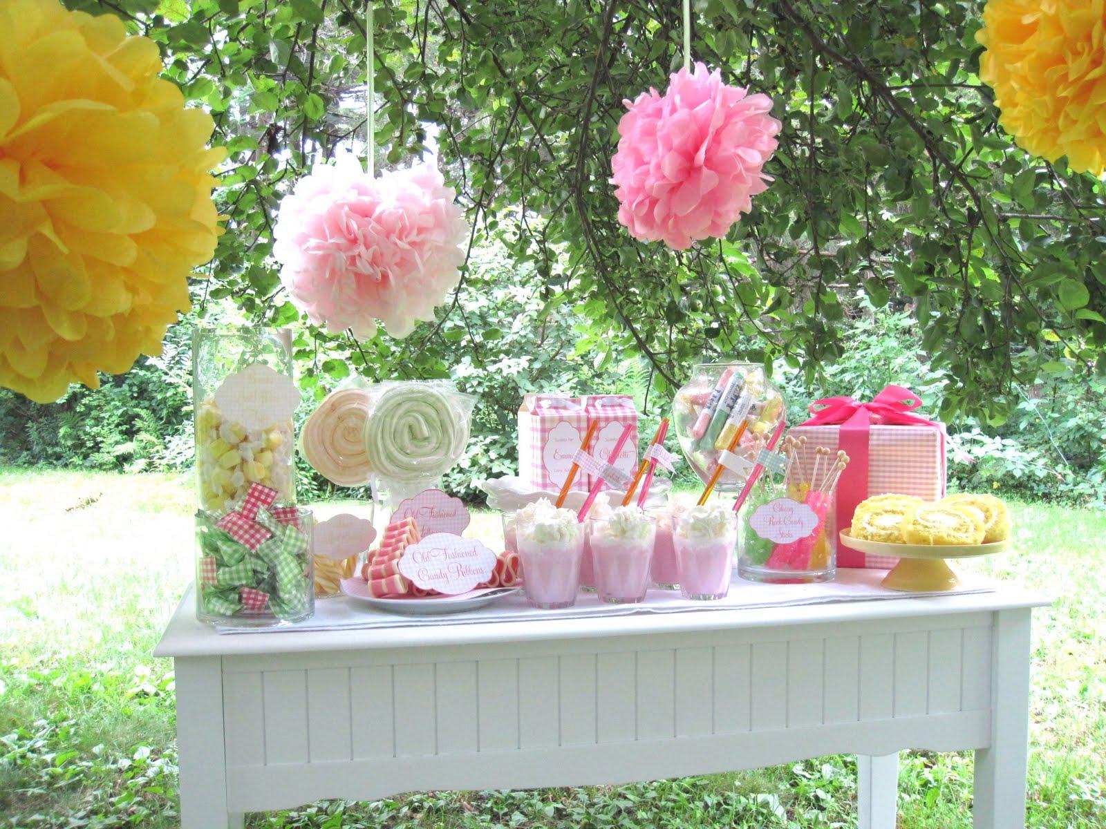Kate landers events llc gingham sweet table - Decoracion fiesta jardin ...