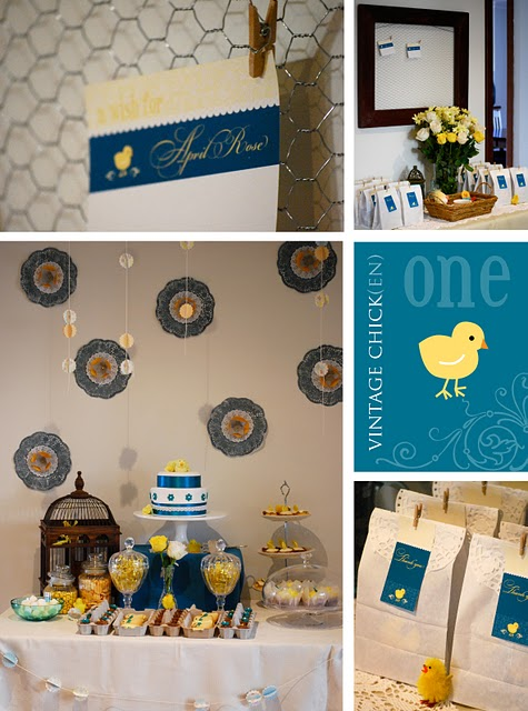 Stylish Childrens Parties: Vintage Chick{en} First Birthday Party