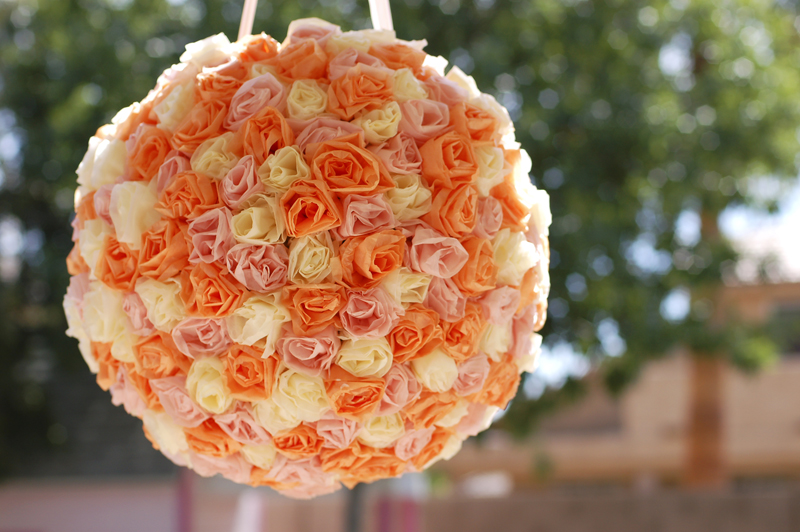 Paper Flower Balls For Wedding Now For The Winner Of The 50 Gift Certificate To Heather 39 S Fabulous