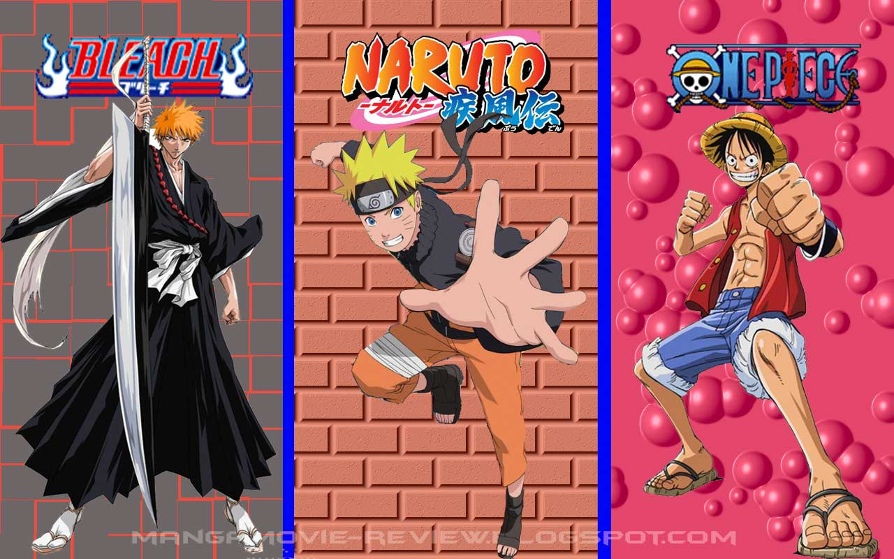 Naruto shippuuden Bleach One Piece Wallpapers