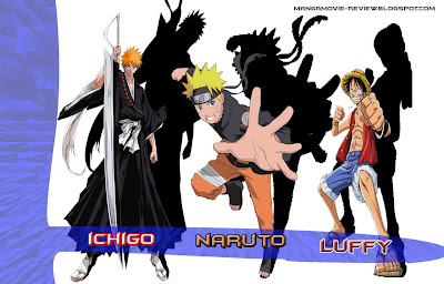 Naruto, Ichigo and Luffy Wallpapers