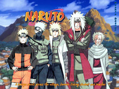 Sarutobi, Jiraiya, 3rd and 4th Hokage, Kakashi, naruto