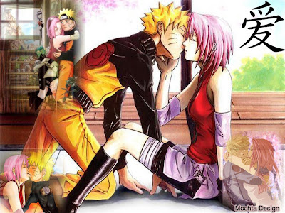 romantic anime couples kissing. Oops Naruto land his kissing