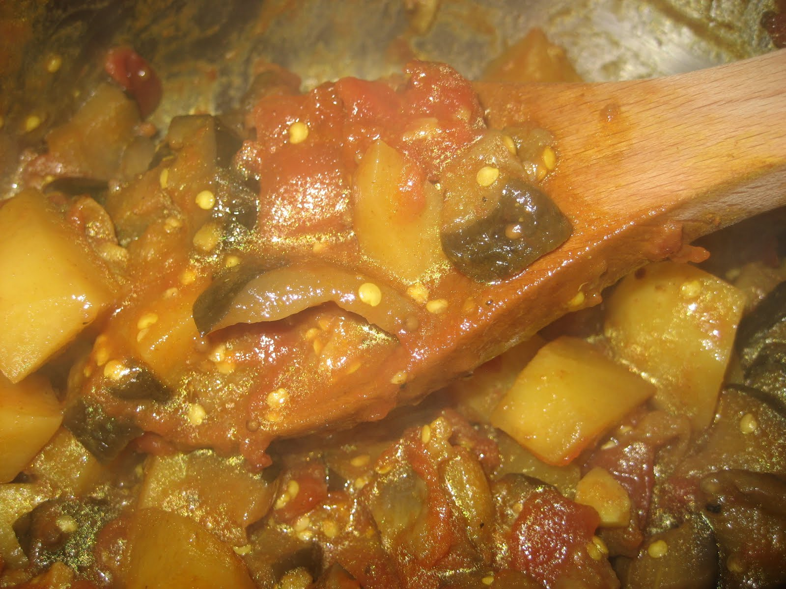 Ballerina Breath: Curried Eggplant and Potatoes