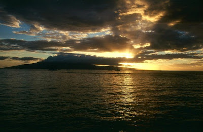 Sunset from Lahaina, Maui, Sep. 2003