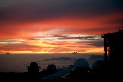 Sunset on Haleakala, May 2009