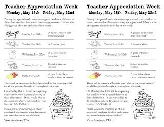 Parent Teacher Appreciation Week 2015 Flyer | just b.CAUSE