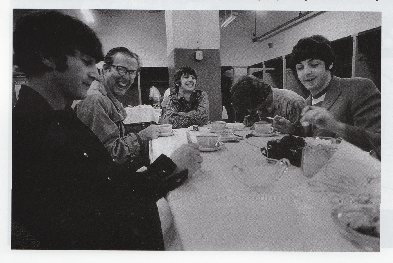 Ralph Gleason With The Beatles Backstage At Candlestick Park