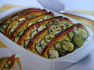 شرائح الخبز المحمصة بالكوسا