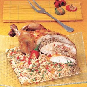 LEBANESE RECIPES: Roasted Chicken Stuffed with Rice