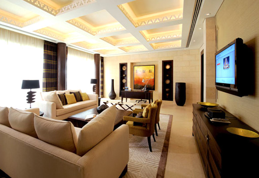 Black And White Middle East Living Room Design
