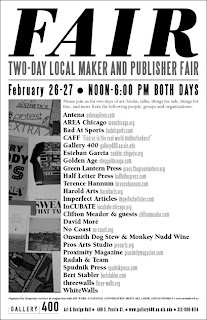 FAIR: TWO-DAY LOCAL MAKER AND PUBLISHER FAIR