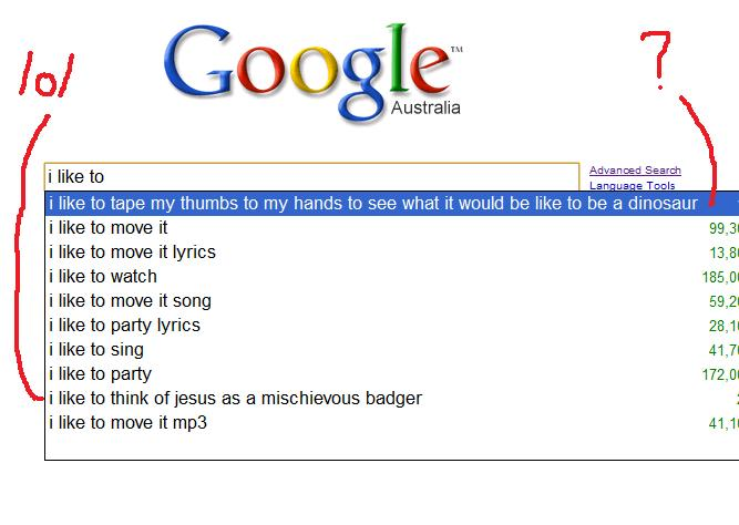 Weird Awesome Funny Google Search Suggestions