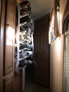 rv space saving over the door shoe rack