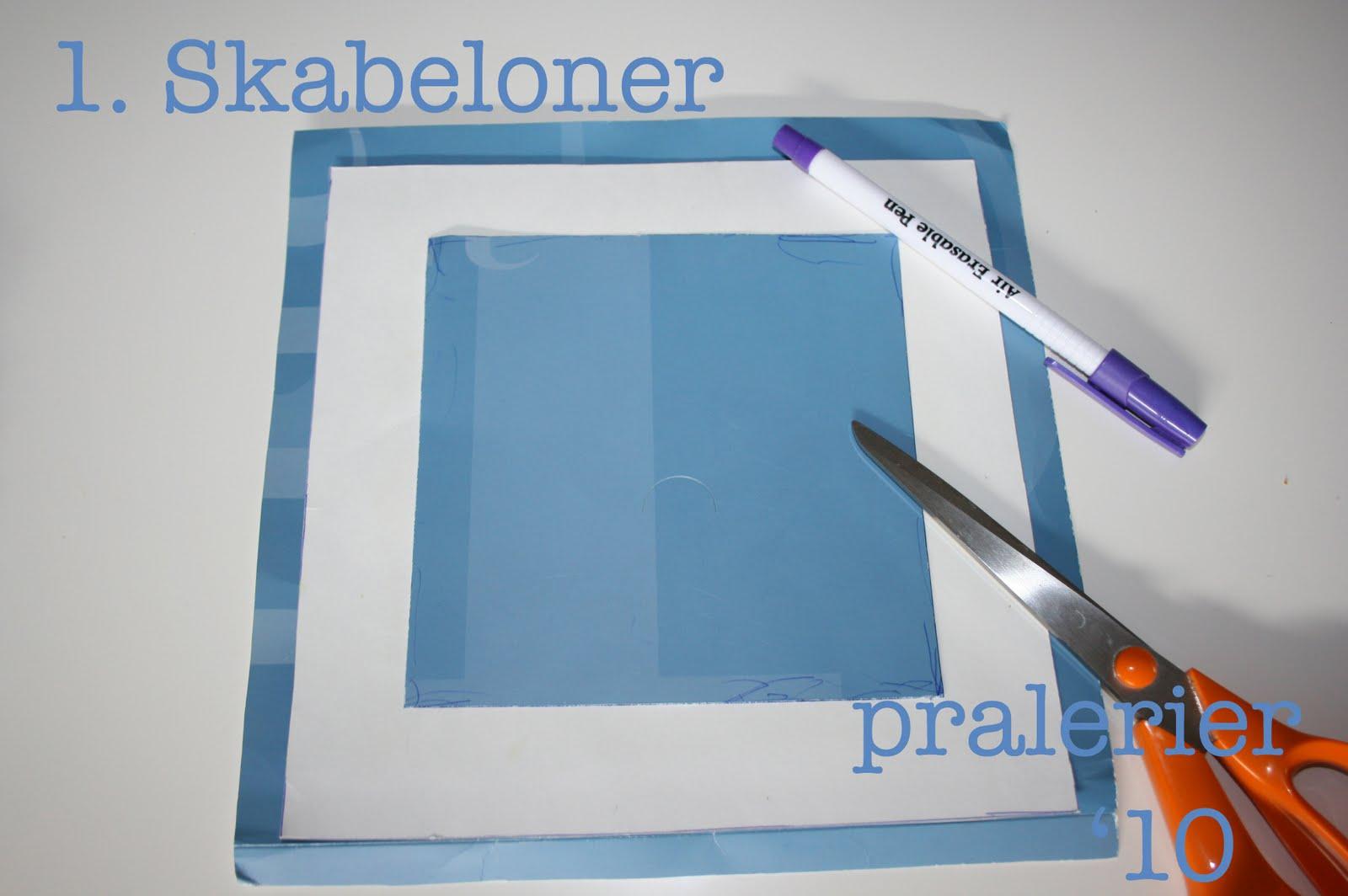 Er kvadratiske skabeloner i pap siderne på mine skabeloner måler
