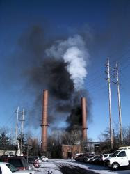 image of smoke stack pollution