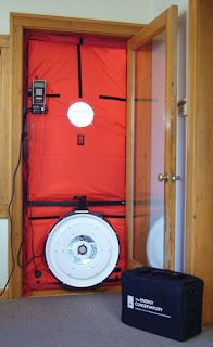 picture of blower door test