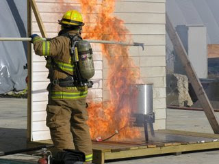 picture of turkey fryer fire