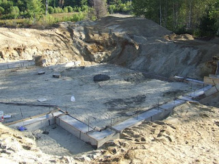 picture of concrete footings