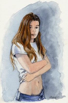 Autoportrait à l'aquarelle