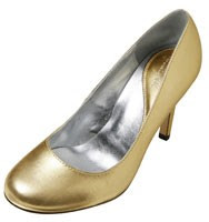 Patricia Field for Payless Heiress Gold Pump