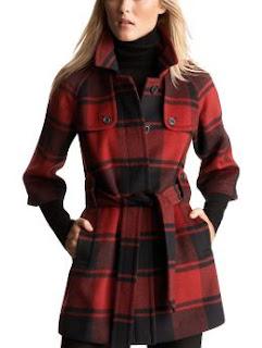 Gap Plaid Belted Coat