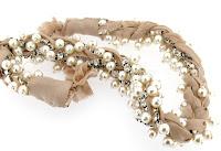 Misha Barton Stacey Lapidus Pearl & Crystal Cluster Beaded Headband