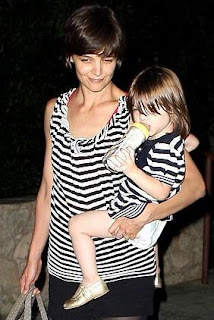 Katie Holmes and Suri Cruise Matching Stripes